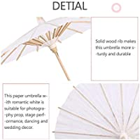 11.8inch ISKYBOB 4 Pieces White Blank Chinese Paper Umbrella Parasol DIY Painting Craft Wedding Party Decoration 30cm