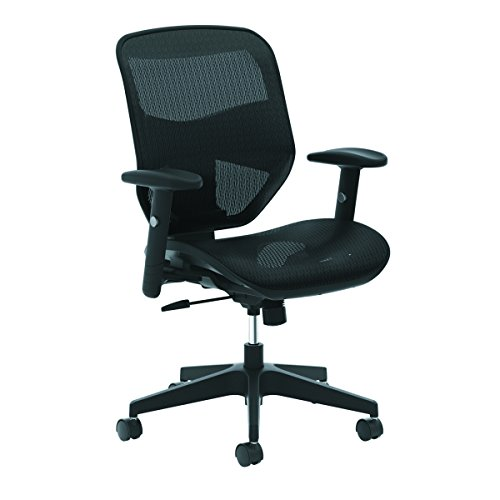 HON Prominent High Back Task Chair - Mesh Back and Seat Office Chair for Computer Desk, Black (Hon Adjustable Training Table)