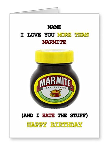 Funny Birthday Card I Love You More Than Marmite Amazon