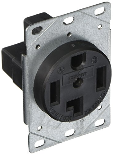 250v Flush Mount (EATON 1257-SP 3-Pole, 4-Wire 30-Amp 125/250-Volts Flush Mount Dryer Power Receptacle, Black)