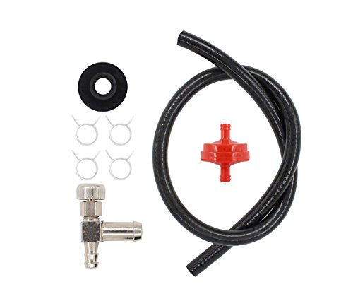 Tank Fuel Hose Filter Gas Shut-Off Valve Grommet Bushing For 3000 5000 6250 Watts Craftsman Coleman Powermate Maxa Generac Honda GX240 Generator Snapper Snowblower Snow Thrower