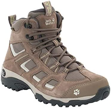 Jack Wolfskin VOJO HIKE 2 TEXAPORE MID women's waterproof hiking boot,'siltstone US 9 D US