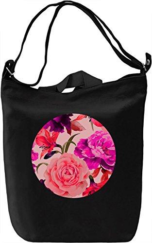 Purple Flowers Borsa Giornaliera Canvas Canvas Day Bag| 100% Premium Cotton Canvas| DTG Printing|