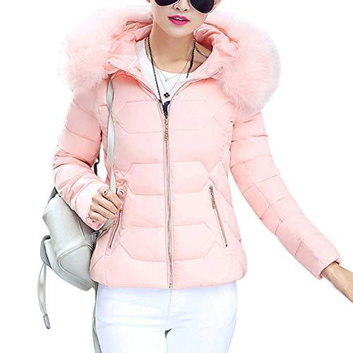 BEESCLOVER Abrigo de Invierno para Mujer Chaqueta de Las señoras Collar Acolchado para el Pelo Cálido Outwear con Capucha...