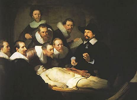 Amazon.com: Rembrandt Van Rijn Anatomy Lesson of Dr Tulp 26x20 ...