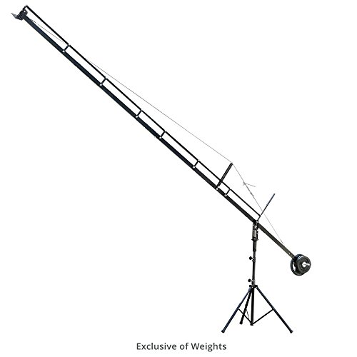 PROAIM 18ft Professional Camera Film Crane Jib, Tripod Stand (P-18-JS) for Cameras up to 8kg/17.6lbs with Carrying Bag | for DSLR Video Film Movie Production