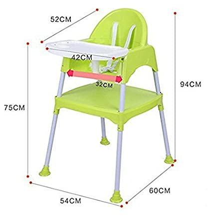 SZFMMY Deluxe 3 in 1 Modern Multifunctional Baby High Chair Feeding seat Harness Play Table Study Desk Blue