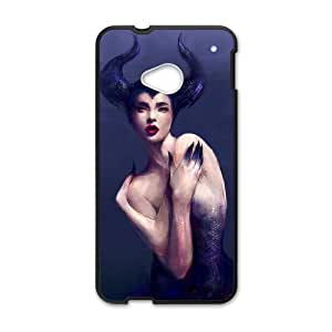 HTC One M7 Cell Phone Case for Classic Theme Disney Maleficent Cartoon pattern design GDSNMLT10864