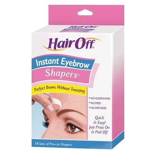 Hair Off Instant Eyebrow Cold Wax Shapers Strips 18 Count (6 Pack) 50018515010204