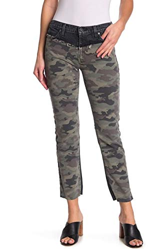 HUDSON – Womens Barbara HGH WST Straight Jeans, Size: 29, Color: Blackened Camo