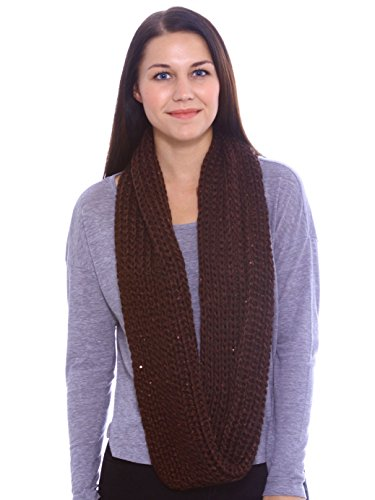 Simplicity Unisex Winter Thick Warm Knitted Circle Infinity Scarf
