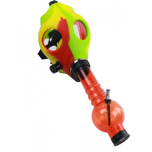 RASTA-RUBBER-GAS-MASK-WITH-ACYRLIC-TUBE-RED