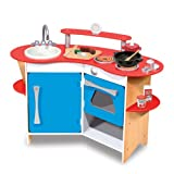 Melissa & Doug Cook's Corner Wooden Kitchen Prretend Play Set