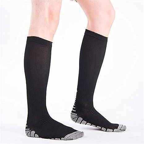 Amazon.com: DeemoShop Men Compression Socks Anti-Fatigue Long Cotton Soccer Socks Knee High Stocking Travel Socks meias calcetines sokken: Kitchen & Dining