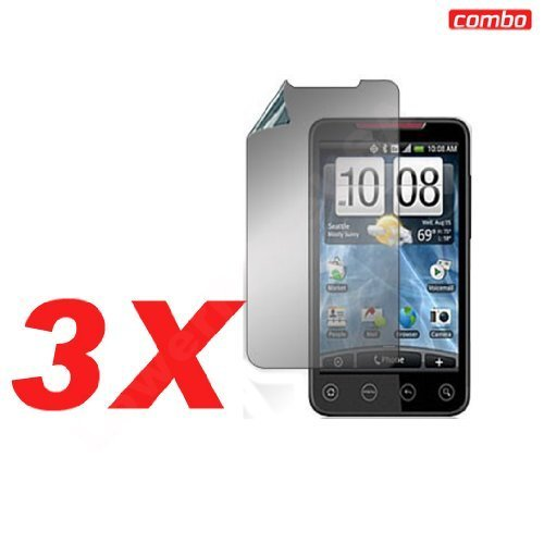 (Generic Combo Screen Protector for HTC EVO 4G Sprint - Non-Retail Packaging - Clear)