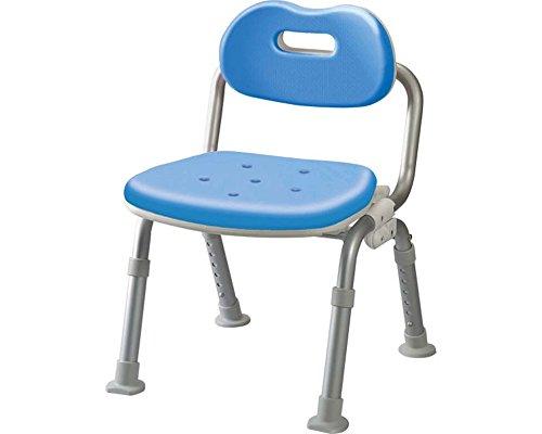 シャワーチェア[ユクリア]ミドルSP腰当付おりたたみ ブルー B016OFRIPY ブルー ブルー