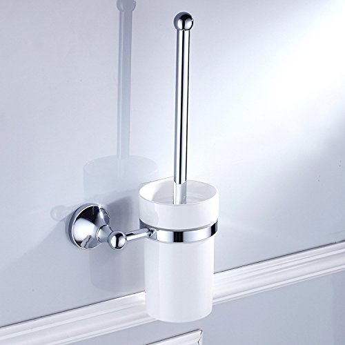 XY&XH Toilet Brush Holder , Contemporary Chrome Wall Mounted Toilet Brush Holder