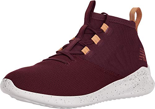New Balance Men's Cypher v1 Running Shoe, Nubuck Burgundy/Veg tan Leather, 12 D US
