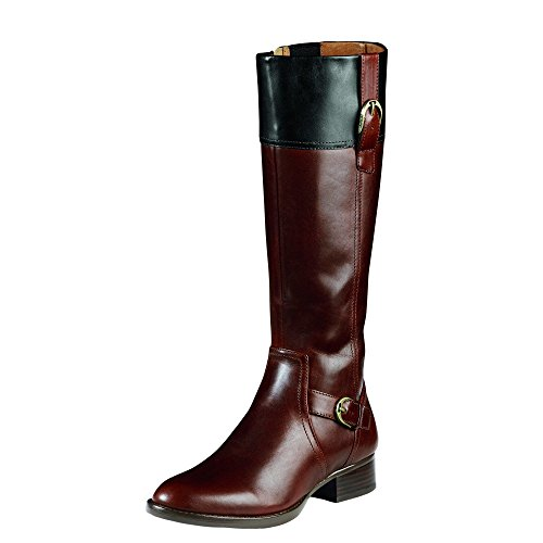 Women's Ariat York Leather Boots, BROWN/BLACK, Size 6
