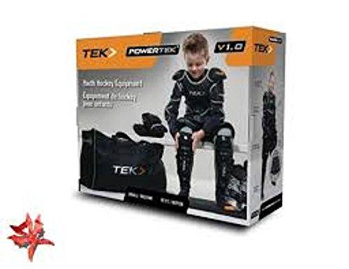 New PowerTek V1.0 Tek 6 piece Ice Hockey Pad Equipment Starter Set Youth - Hockey Youth Equipment Ice