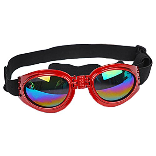 OpetHome Plastic Wind-Resistant Radiation Protection Glasses Fashion Pet Glasses - Specs Best Round Face For