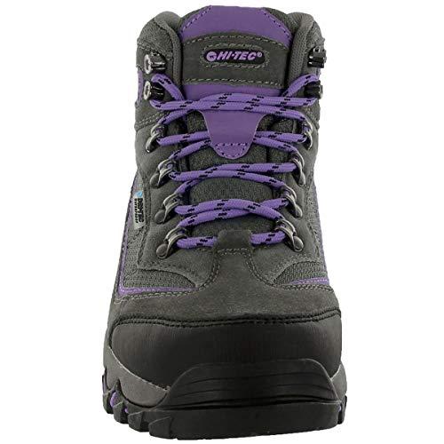 Hi-Tec Women's Skamania Mid Waterproof Hiking Boot, Grey/Viola,7 M US
