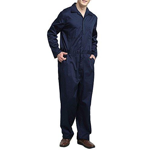 TOPTIE Men's Regular Workwear Zip-Front ...