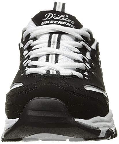 Skechers Women's D'Lites - Biggest Fan Black/White 12 B US