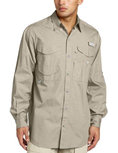 (Columbia Men's Bonehead Long Sleeve Shirt, Fossil, Large Tall)