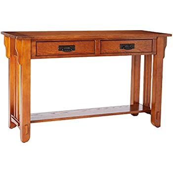 Superior Coaster Occasional Group Traditional Oak Sofa Table With Shelf And 2 Drawers