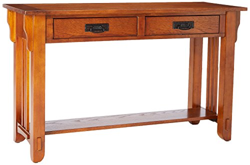 Mission Oak Nesting Table - Coaster Home Furnishings 702009 Colton Sofa Table, 2 Drawer, Warm Brown