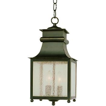 """Trans Globe Lighting 45633 WB Outdoor Santa Ines 16.5"""" Hanging Lantern, Weathered Bronze"""
