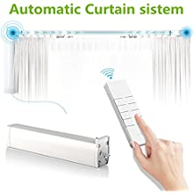 Automatic Curtain system Accept Customized Track Size Electric Remote Controlled Drapery System Track Side or Center Opening & Wall or Ceiling Mount Brackets(Motor)
