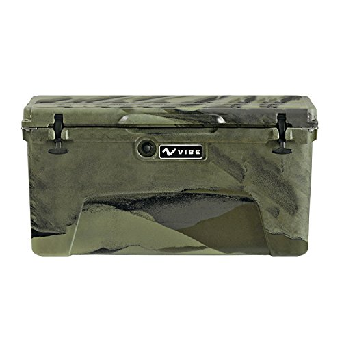 (Vibe Element 75 Quart Rotomolded Hard Shell Cooler with Bottle Opener, Hunter Camo)