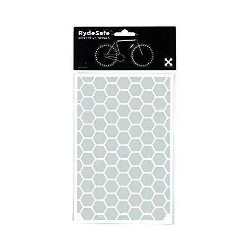 (RydeSafe Reflective Decals - Hexagon Kit - Large (White))