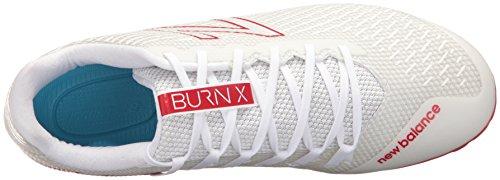 Nieuwe Balans Mens Verbranden Lage Snelheid Lacrosse Schoen Wit / Rood