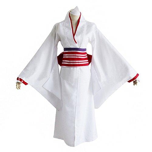 [Mtxc Women's Noragami Cosplay Nora/Hi Kimono Size Medium White] (Noragami Nora Costume)