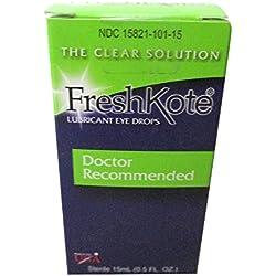 Freshkote Lubricant Eye Drops 15 Ml (2 Pack)