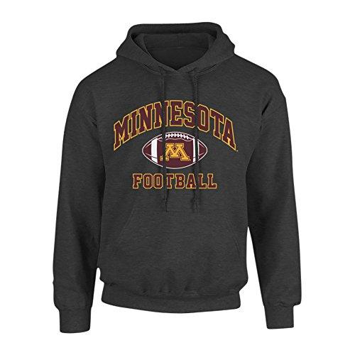Elite Fan Shop Minnesota Golden Gophers Hooded Sweatshirt Heather Gray - L - Charcoal