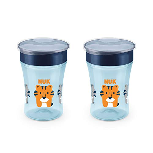 NUK Evolution 360 Cup, 8 oz, 2-Pack, Blue