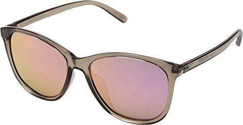 Le Specs Unisex Entitlement Light Pebble/Coral Revo Mirror Polarized One - Le Specs Mens Sunglasses