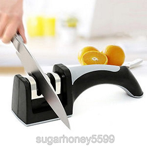 Knife Blade Sharpener 2 Stages Household Handle Hard Carbide Ceramic Sharpening Stone for kitchen Tool