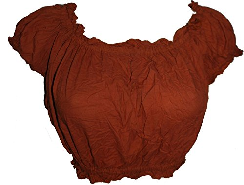 Wevez Women's Tribal Cotton Puff Top (Copper),Medium ()