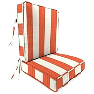 Jordan Manufacturing Sunbrella Cabana Flame Deep Seat Chair Cushion
