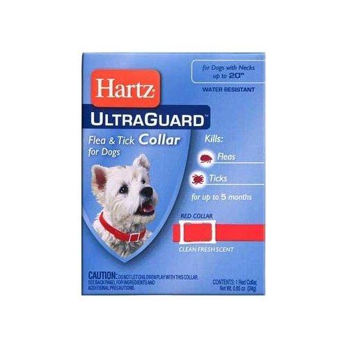"Hartz Ultraguard Flea & Tick Dog Collar 23"" - Red"