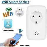 URANT Presa Intelligente Wi-Fi con Controllo Remoto, Timer e Porta USB, dispone di Applicazione Compatibile con Smartphone Android e iOS, Colore Bianco