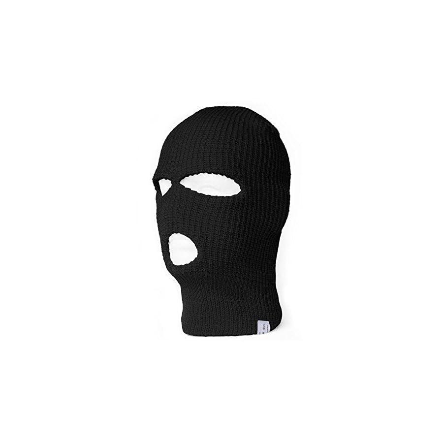 TOP HEADWEAR TopHeadwear 3 Hole Ski Face Mask Balaclava