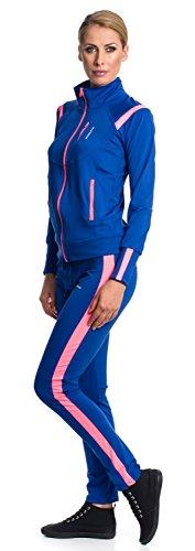 Mobina Damen Sportanzug Trainingsanzug Jogginganzug Sportanzug Sporthose Fitness Jacke Hose - Pink M