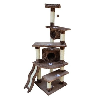 Kitty Mansions Shanghai Cat Tree, Mocha, My Pet Supplies