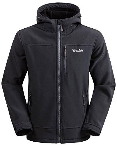 Softshell Windproof Fleece Outdoor Jacket Grey Medium ()